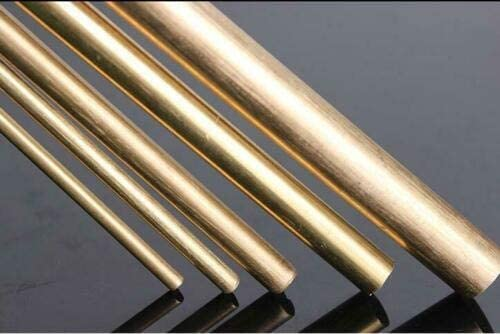 XSRJ Brass Rod Bar 2mm 3mm 4mm 8mm 10mm Round Rod Blank Scales Blade Handle M2-M20 500mm Length Size : 18mm