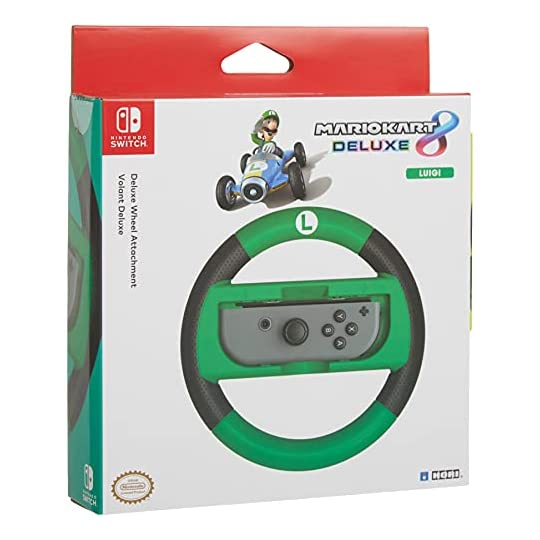 HORI Nintendo Switch Mario Kart 8 Deluxe Wheel (Luigi Version) Officially Licensed By Nintendo – Nintendo Switch