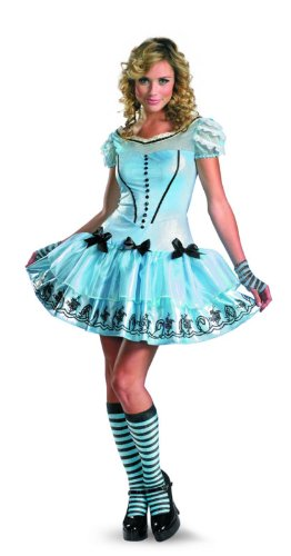 Disguise Women's Alice In Wonderland Movie Sassy Dress Costume, Light Blue, Medium (Alice In Wonderland Movie Dress)