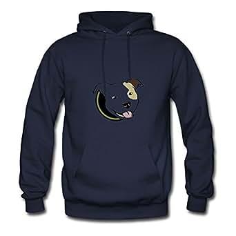 Women Pitbull Navy Customizable Lovely Cool Hoodies Shirts X-large