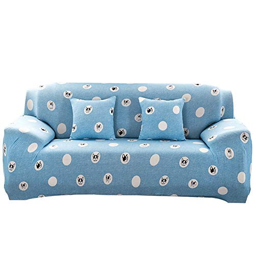 lightclub Dog Leaf Triangle Sofa Wrap Full Cover Anti-Slip Elastic Couch Case Slipover 2# Four Seat