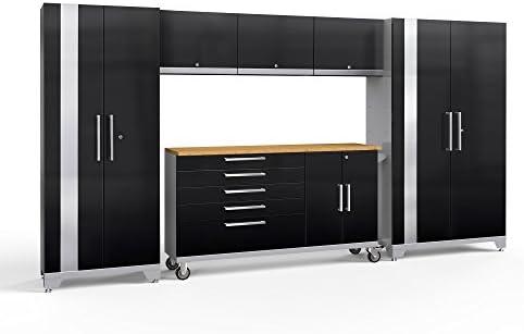[해외]NewAge Products Performance 2.0 Black 6 Piece Set Garage Cabinets 57296 / NewAge Products Performance 2.0 Black 6 Piece Set, Garage Cabinets, 57296