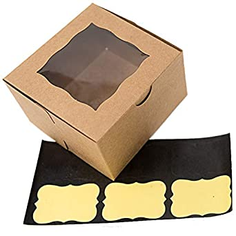Bakery Boxes With Window Small 4x4x2 5 Gift Box 10 Pack For