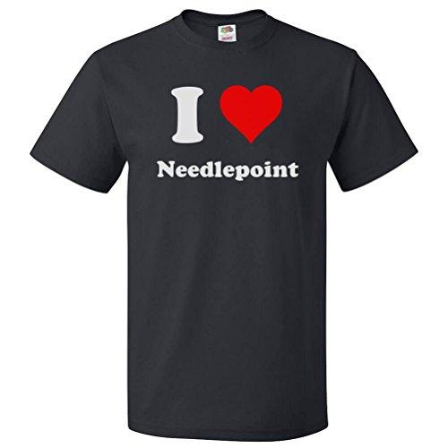Needlepoint Heart (ShirtScope I Love Needlepoint T shirt I Heart Needlepoint Tee 5XL)