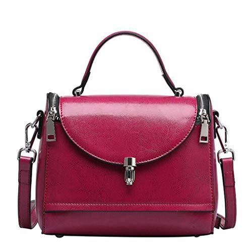 en cuir Sac pour femme centrale d'unité Taille unique élégante Brun 22 18cm en Mode bandoulière 10 Violet couleur CEqBwtq