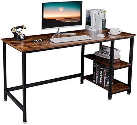 NXN-HOME Industrial Computer Desk,55 Inch Large Study Writing Table