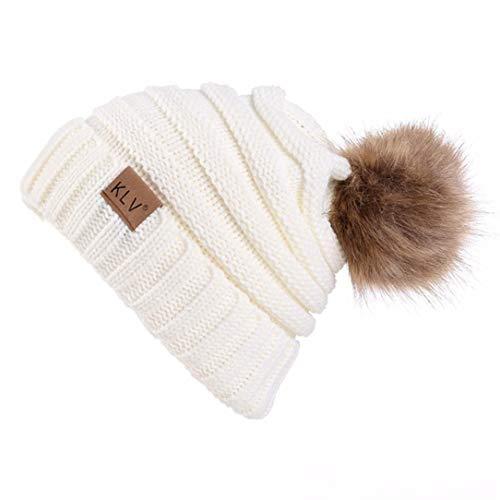 Winter Warm Ski Hat Laimeng_ World Men Women Baggy Warm Crochet Wool Knit Ski Hat Beanie Skull Slouchy Cap -