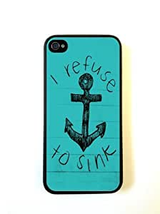 Refuse To Sink Anchor Quote Case For Ipod Touch 4 Over CaFor Ipod Touch 4 Cove...