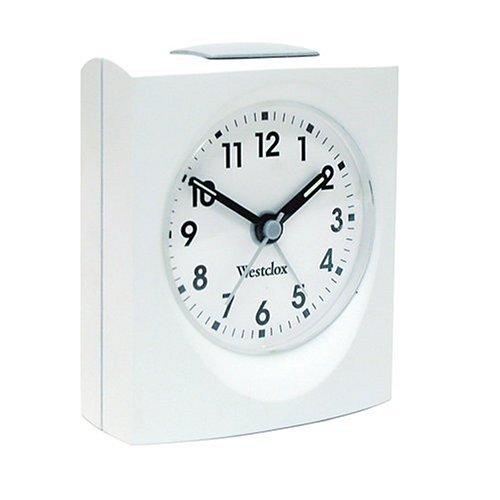(Westclox 47309 Echo Analog White Quartz Alarm Clock 47309)