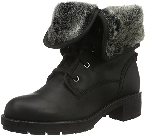 Leather Black Mujer Botas Clarks Reunite para GTX Negro Up Biker ZFxRqz8w