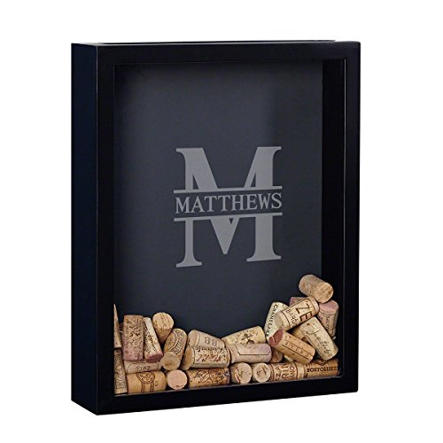 Monogram Shadow Box - HomeWetBar Oakmont Personalized Shadow Box for Cigar Bands (Customizable Product)