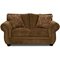 Simmons Upholstery Outback Loveseat, Chocolate