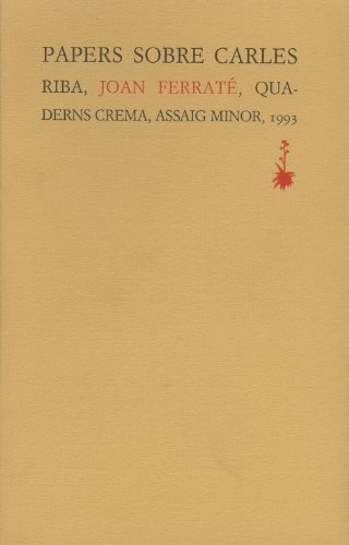 Papers sobre Carles Riba (Assaig Minor)
