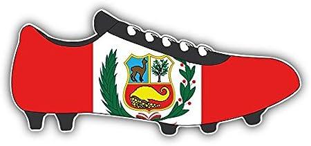 5/'/' Peru Flag Soccer Cleats Car Bumper Sticker Decal 3/'/' 6/'/' or 8/'/'