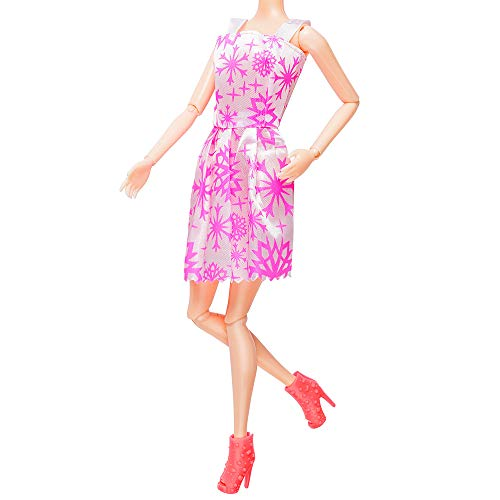 cfe4945bf78 Doll Accessories 12 Pcs Mixed Doll Clothes Dress and 10 Pairs Doll Shoes  Fit For Barbie
