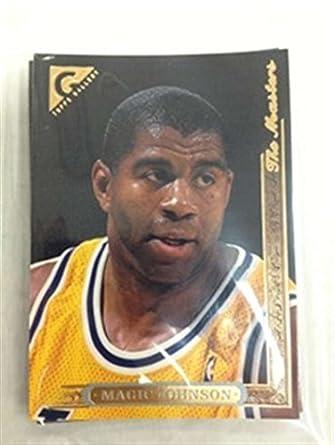 bf607cebd68 Amazon.com: 1995-96 Topps Gallery Los Angeles Lakers Team Set 5 Cards Magic  Earvin Johnson Cedric Ceballos Nick Van Exel MINT: Collectibles & Fine Art
