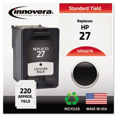 Innovera 2027A - 2027A Compatible Remanufactured Ink, 280 Page-Yield, Black-IVR2027A