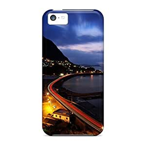 LastMemory Case Cover For Iphone 5c - Retailer Packaging City Lights Protective Case