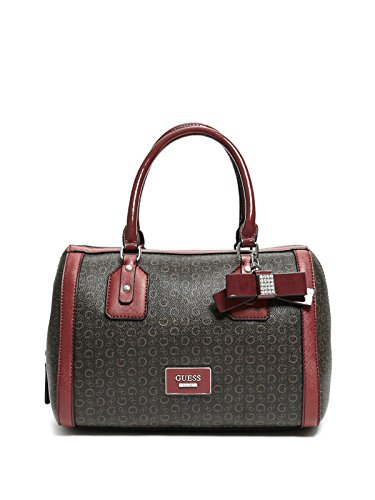 Women Handbags Guess (GUESS Factory Women's Burnley Faux-Leather Logo Box Satchel)