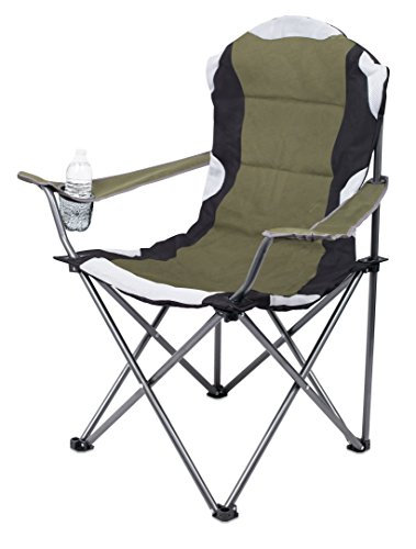 Outdoor Folding Chairs Green - Internet's Best 2 Pack Padded Camping Folding Chair | Outdoor | Green | Sports | Cup Holder | Comfortable | Carry Bag | Beach | Quad