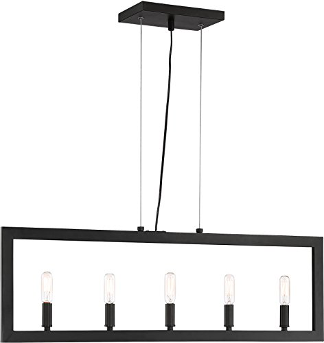 Craftmade 44975-ESP Portrait Geometric Island Chandelier Lighting, 5-Light, 300 Watts, Espresso (5