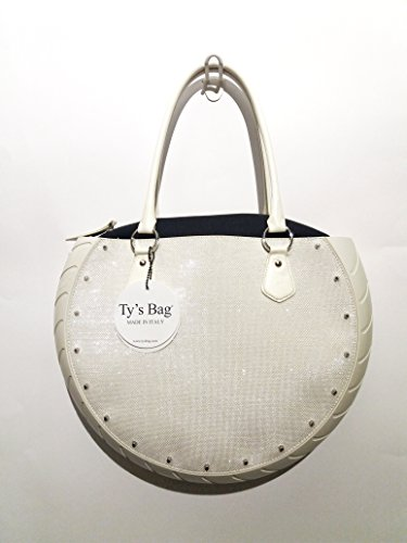 Tys Bag Space Silver in gomma ed ecopelle Made in Italy