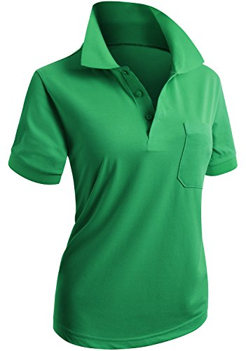 9dc6f62b0c6926 Womens XXL Green Polo Shirt
