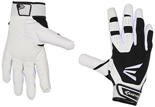 (Easton HS3 Batting Gloves, White/Black, Small)