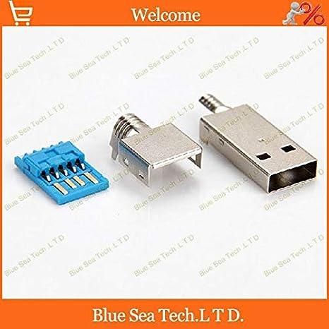 Ochoos 50 juegos USB 3.0 macho 3 en 1 conectores/enchufe ...