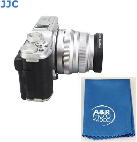 JJC LH-JXF35 lens hood For Fujifilm XF 35mm f//2 WR Canon EF-M 22mm f//2 STM Samsung 20mm 2.8 Pancake With A/&R Cleaning cloth