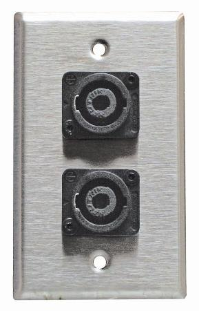Stainless Steel Speakon Wall Plate Neutrik Single Gang 4-Pin-2pack
