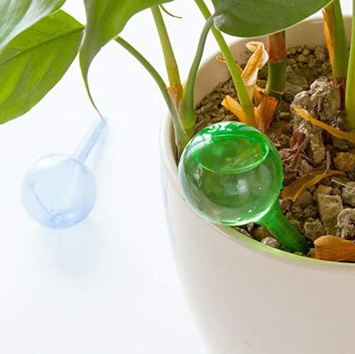 Sistema de riego autom/ático de PVC Bola de Vidrio de imitaci/ón Planta Flores Dispositivo de riego Verde S