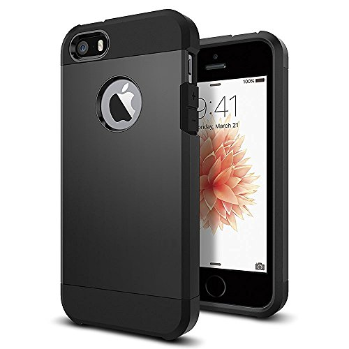 iPhone 5/5S/SE Case, [Protective Grippery Tough Case] Dual-Layer [Hard Shell PC + Flexible TPU] (Speck Iphone 5s Camo Case)