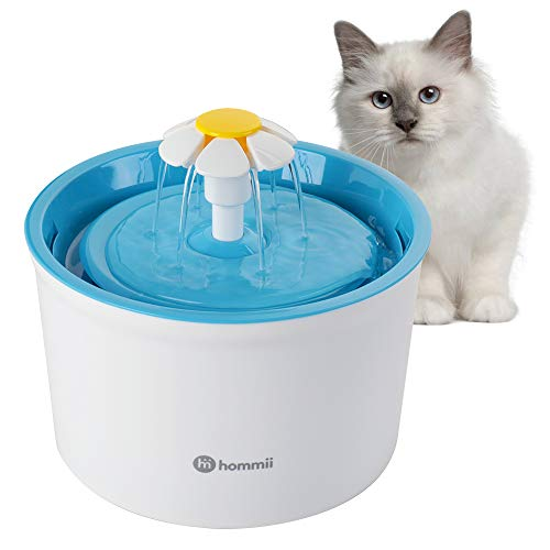 Hommii Pet Drinking Water Flower Fountain for Cats and Dogs Pets, Cat Dog Water Dispenser, Automatic...