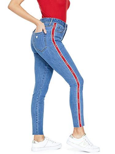 GUESS Factory Women's Nichole Logo-Trim Skinny Jeans ()