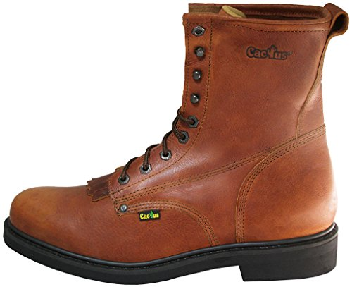 Cactus Mens 8 Leather Kiltie Lacer Boot Light Brown OcTD4GP94I