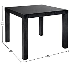 DHP Parsons Modern End Table, Black Wood Grain