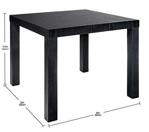DHP Parsons Modern End Table, Black Wood Grain by DHP (Image #4)