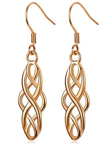 LOLIAS Dangle Drop Earrings for Women Girls Stainless Steel Irish Celtic Knot Earrings Vintage