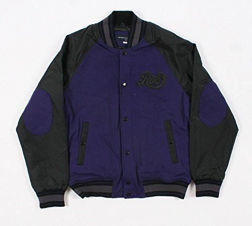 (Rocawear 1159R Purple Mens Varsity Jacket Size XXL )