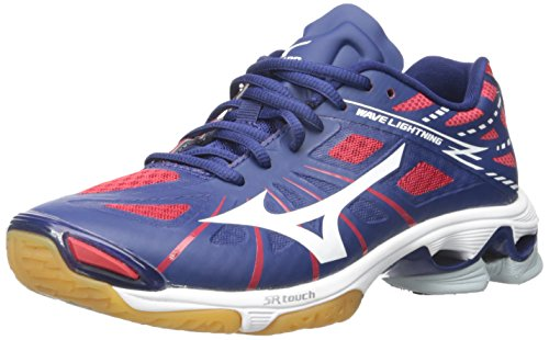 Mizuno Women's Wave Lightning Z WOMS NY-RD Volleyball Shoe, Navy/Red, 11 D US by Mizuno