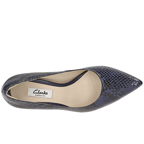 in blu modern Donna pelle in scarpe Clarks Keer Dinah elegante qOwz81wvnx