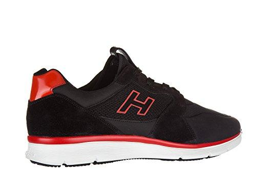 Hogan Zapatillas De Deporte De Cuero Para Hombre Zapatillas De Deporte H254 H Flock Black