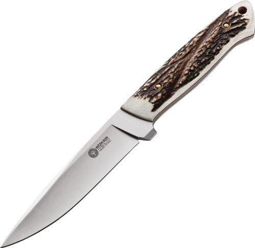 Boker Arbolito 02BA303H Relincho Cuerno De Ciervo Fixed Blade Knife with 5 in. Bohler N695 Steel Blade