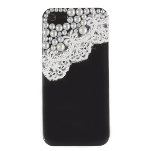 Hard Cover Case Dentelle Perle 3D Ice Cream Fashion Style pour iPhone 5