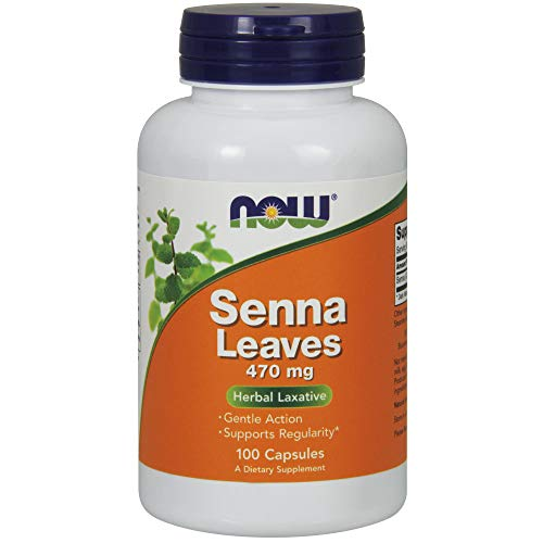NOW Supplements, Senna Leaves (Cassia angustifolia) 470 mg, Supports Regularity*, Herbal Laxative*, 100 Veg Capsules