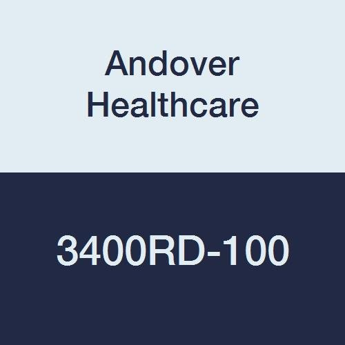 Andover Healthcare 3400RD-100 Coflex Non-Woven Cohesive Self-Adherent Wrap, 15' Length, 4'' Width, Red, Latex Bulk (Pack of 100)