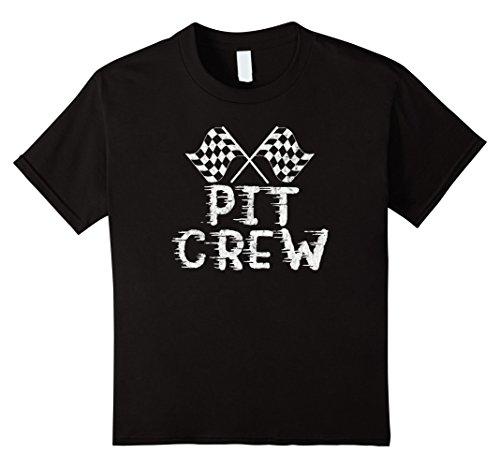 Kids Pit Crew Shirt for Race Car Party Parents Pit Shirt 6 Black