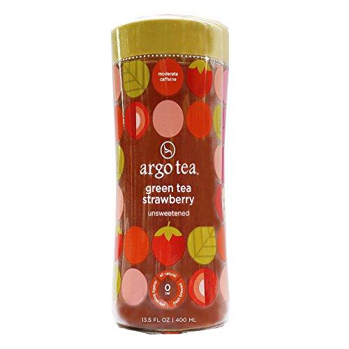 Argo Tea Unsweetened Green Tea Strawberry Tea, 13.5 Fluid Ounce -- 12 per case.