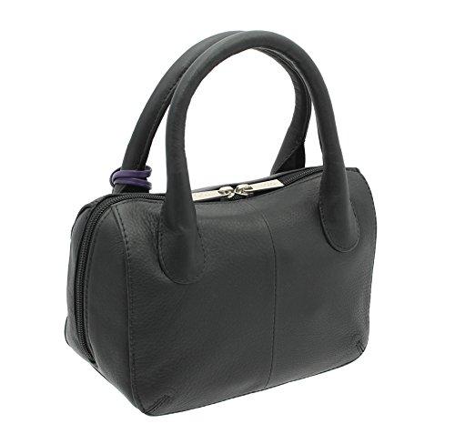 De Bolso Colección Mala Cuero 774 75 Bolera Anishka Leather Estilo Azul Negro Cielo pIAAt